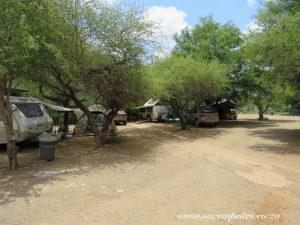 Rustic campsite at Balule