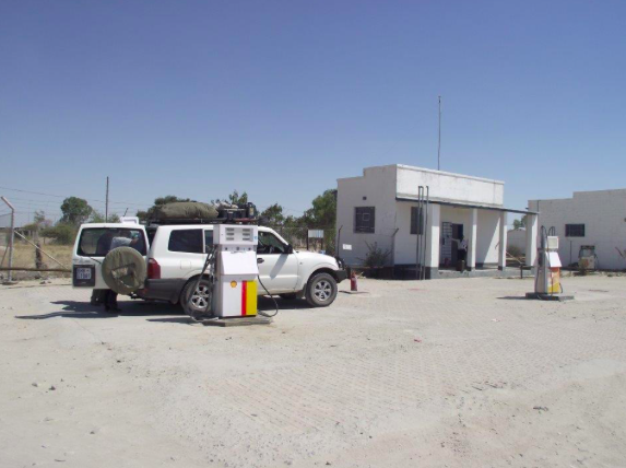 A filling station in Rakops