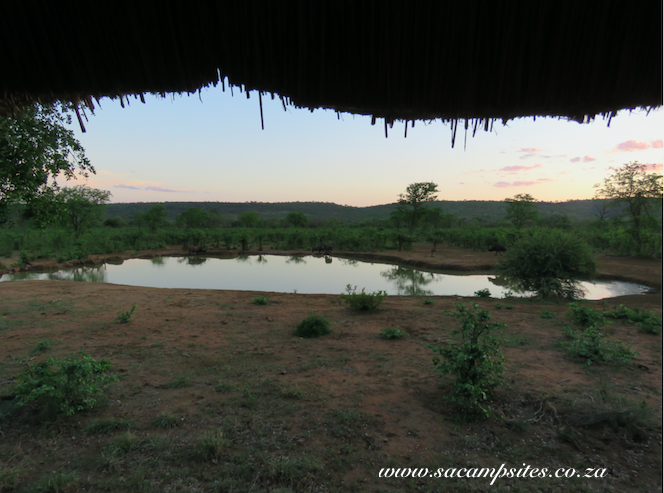 Hide overlooking waterhole at punda maria campsite