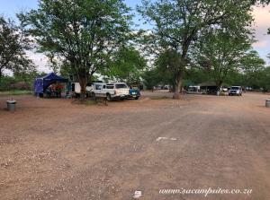 Shaded campsite in Shingwedzi camp