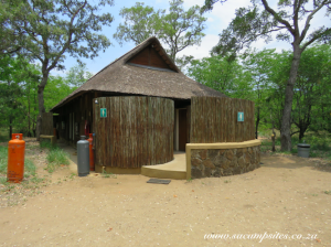 Thatch ablution at Tsendze