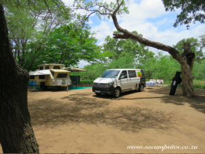 shaded campsites at Letaba