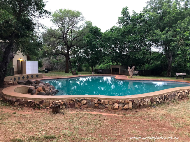 Swimming pool area at Lower Sabie