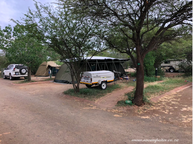 campsites at Lowe Sabie
