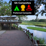 Restaurant deck area overlooking Sabie River