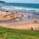 Lagoon & sea meet at Zinkwazi beach on the north coast