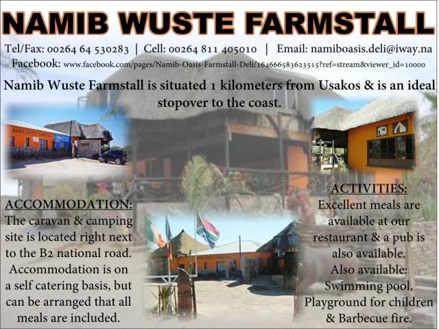 Namib Wuste Farm Stall