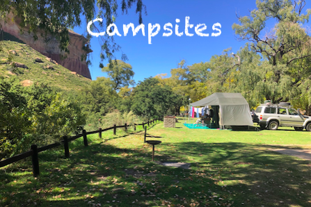 Campsites in the Free State