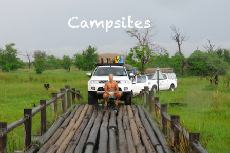 Campsites in Botswana