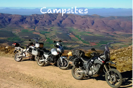Biker friendly campsites